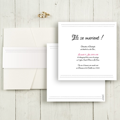 Hochzeitskarten Quadratisch - Eleganz 50465