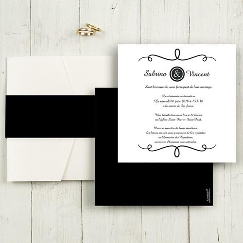 Hochzeitskarten Quadratisch - Schlichte Eleganz 50469