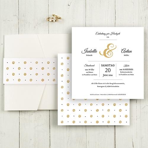 Hochzeitskarten Quadratisch - Typographie 50481