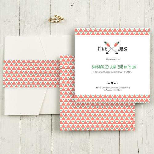 Hochzeitskarten Quadratisch - Shabby Chic  50483