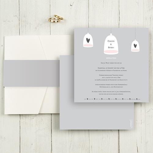 Hochzeitskarten Quadratisch - Glück zu Zweit 50489