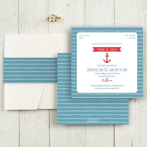 Hochzeitskarten Quadratisch - Hafen der Ehe 50496