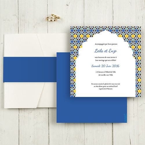 Hochzeitskarten Quadratisch - Casablanca 50498