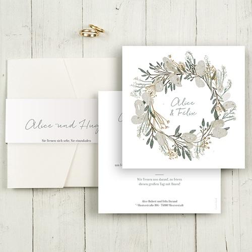 Hochzeitskarten Quadratisch - Tafeldesign 50502