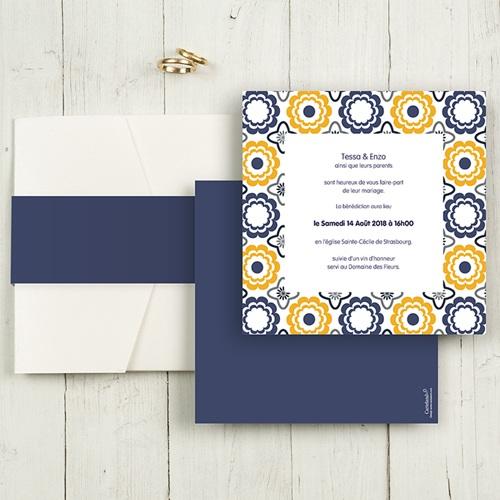 Hochzeitskarten Quadratisch - Azulejo 50504