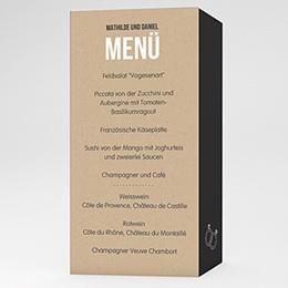 Menükarten Hochzeit - Kraftpapier Design - 0