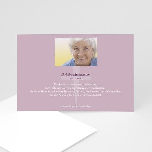Trauer Danksagung christlich - Trauerkarte 8 5055