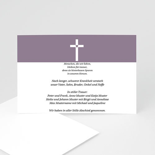 Trauer Danksagung christlich - Trauerkarte 7 5059