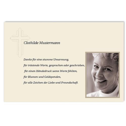 Trauer Danksagung christlich - Trauerkarte 6 5063