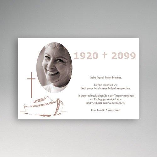 Trauer Danksagung christlich - Trauerkarte 4 5071