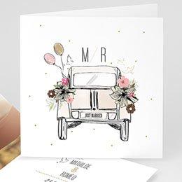 Hochzeitseinladungen modern - Vintage Just married - 0
