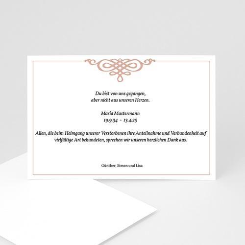 Trauer Danksagung weltlich - Trauerkarte 3 5075