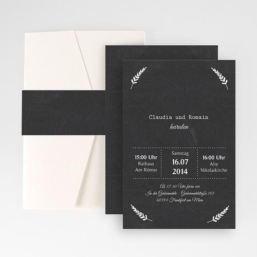 Hochzeitskarten Querformat - Tafelstil chic 50853
