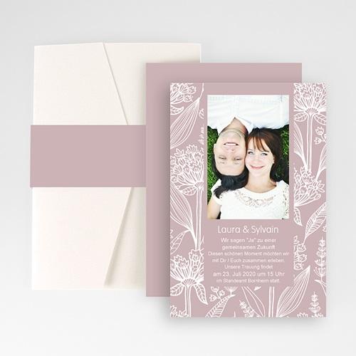 Hochzeitskarten Querformat - Blütenzauber 50859