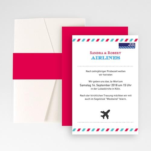 Hochzeitskarten Querformat - Airlines 50867