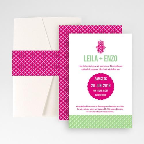 Hochzeitskarten Querformat - Casablanca 50871