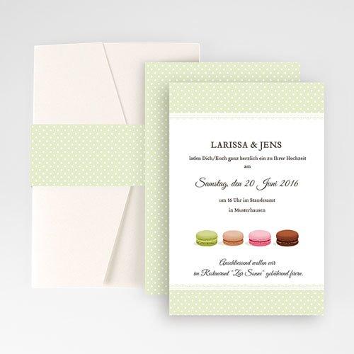 Hochzeitskarten Querformat - Makrönchen 50877