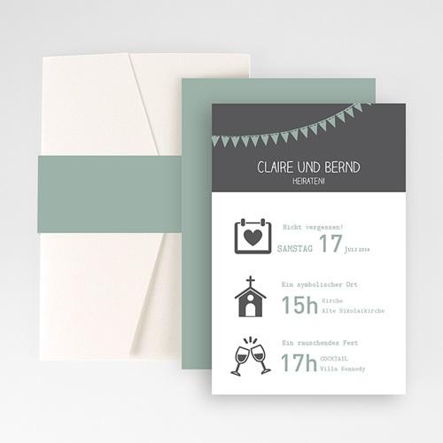Hochzeitskarten Querformat - Festive 50881