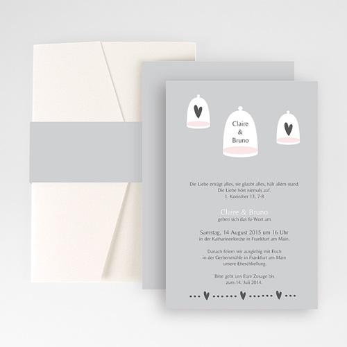 Hochzeitskarten Querformat - Glück zu Zweit 50893