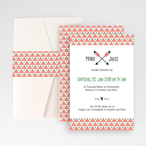 Hochzeitskarten Querformat - Amor  50905