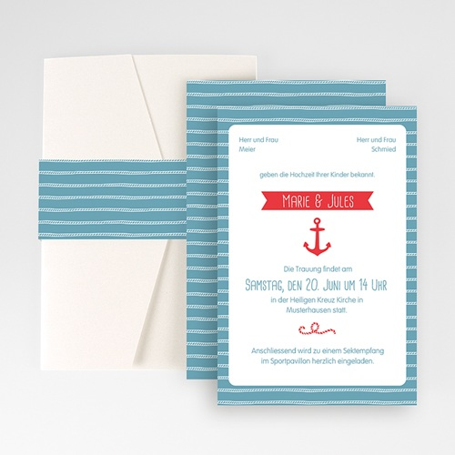 Hochzeitskarten Querformat - Hafen der Ehe 50911
