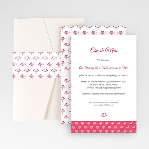 Hochzeitskarten Querformat - Himbeerfarben 50937