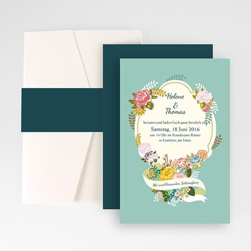 Hochzeitskarten Querformat - Vintage Romantik 50943