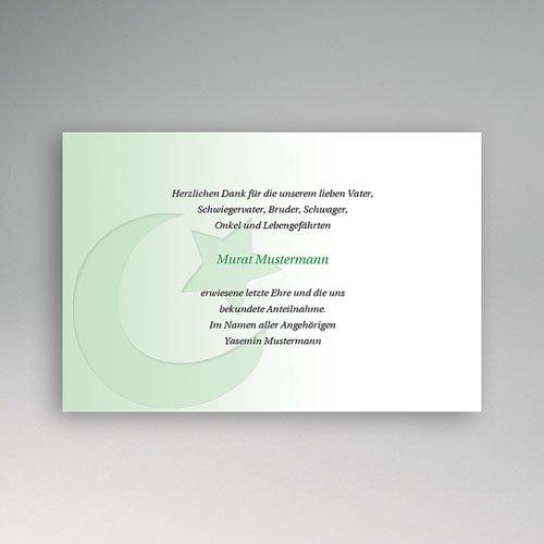 Trauer Danksagung muslimisch - Muslimische Trauerkarte 1 5095