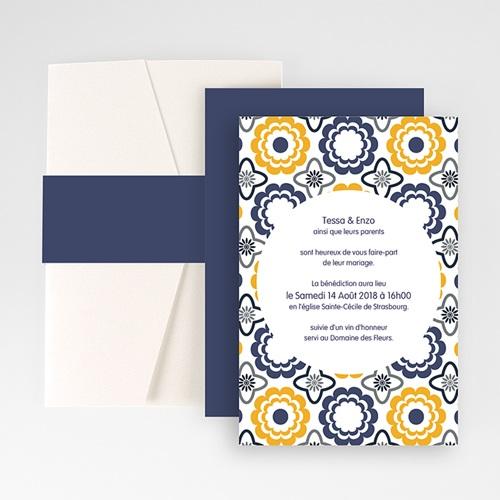Hochzeitskarten Querformat - Azulejo 50955