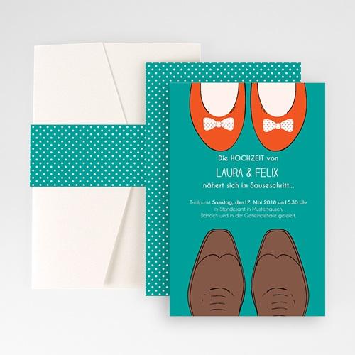 Hochzeitskarten Querformat - Retro Look 50971