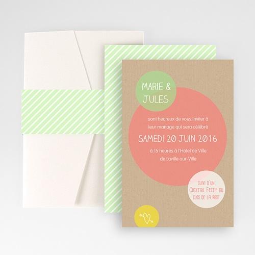 Hochzeitskarten Querformat - Kreisförmig 50979
