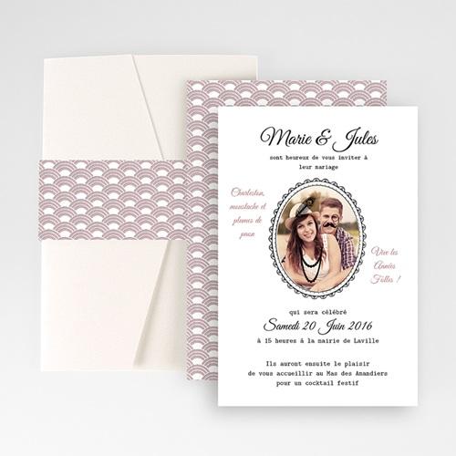 Hochzeitskarten Querformat - Die Goldenen Zwanziger 50985