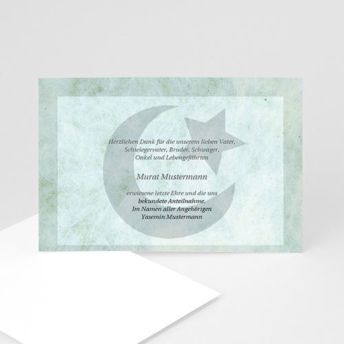 Trauer Danksagung muslimisch - Trauerkarte muslimisch 1 5103