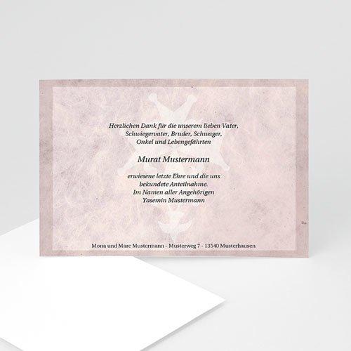 Trauer Danksagung christlich - Trauerkarte 5 5115