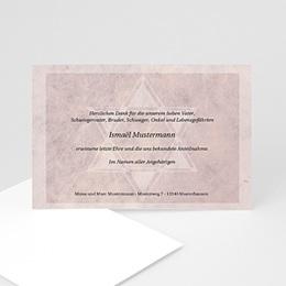 Trauer Danksagung israelitisch - Trauerkarte rosé - 1