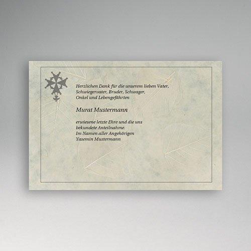 Trauer Danksagung christlich - Malteser kreuz 5127