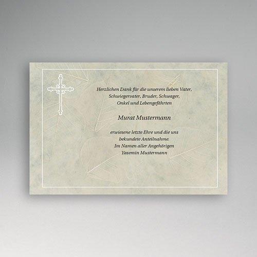 Trauer Danksagung christlich - Marmor-Blatt 5135