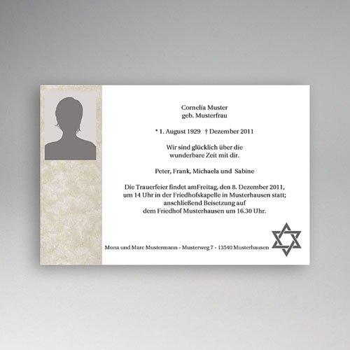 Trauer Danksagung israelitisch - Jahreszeit 5143