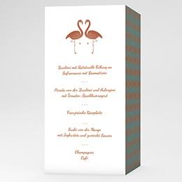 Menükarten Hochzeit - Flamingo Love - 0
