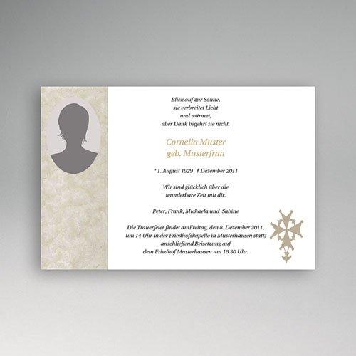 Trauer Danksagung christlich - Trauerkarte Sonnenuntergang 5151