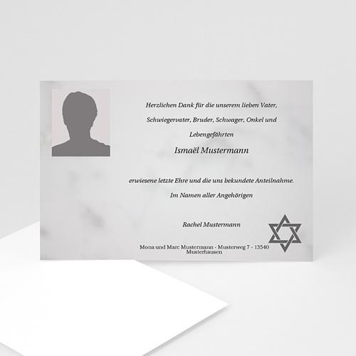 Trauer Danksagung israelitisch - Trauerkarte 3 5159