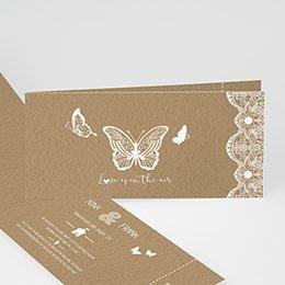 Hochzeitseinladungen modern - Schmetterling - 0