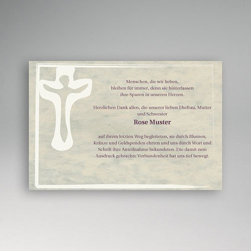Trauer Danksagung christlich - Symbol des Lebens 5175