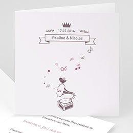 Hochzeitseinladungen modern - Douce Musique - 0