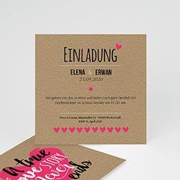 Einlegekarten Hochzeit - Love Story - 0
