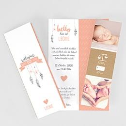 Geburtskarten für Mädchen - Traumfänger Girly Duo - 0