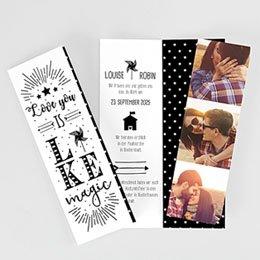 Hochzeitseinladungen modern - Magic Love - 0
