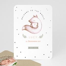 Geburtskarten für Mädchen - Foxy - 0
