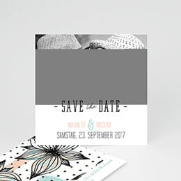 Save The Date  - Floral und Aquarell - 0