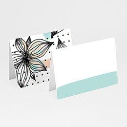 Tischkarten Hochzeit - Floral und Aquarell - 0